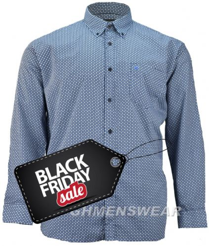 Cotton Valley 'Scott' Long Sleeve Patterned Shirt